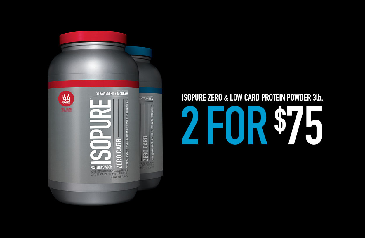ISOPURE Zero/Low Carb 3lb 2 for $75