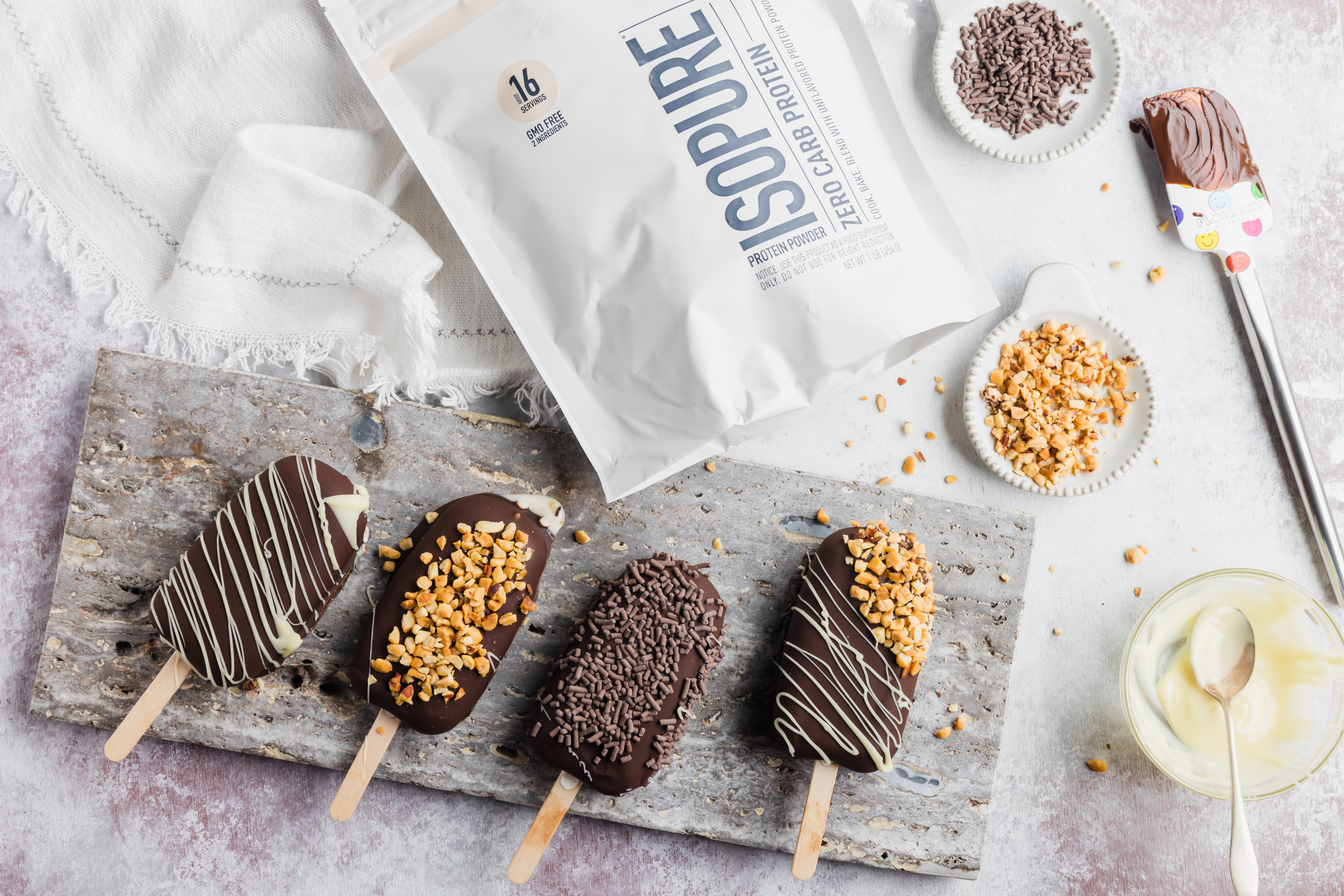 Low Carb Protein Ice Cream Bars