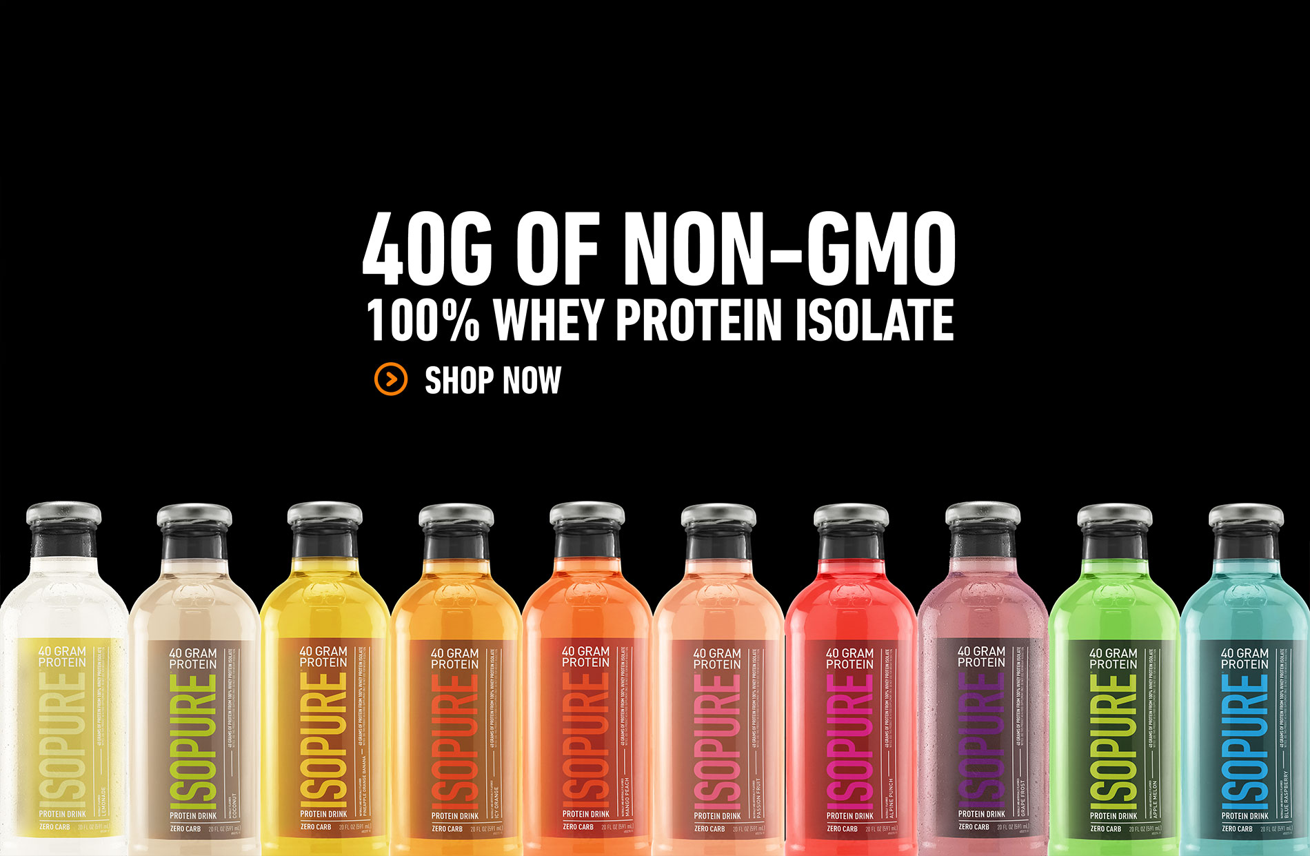 40G OF NON-GMO 100% WHEY PROTEIN ISOLATE