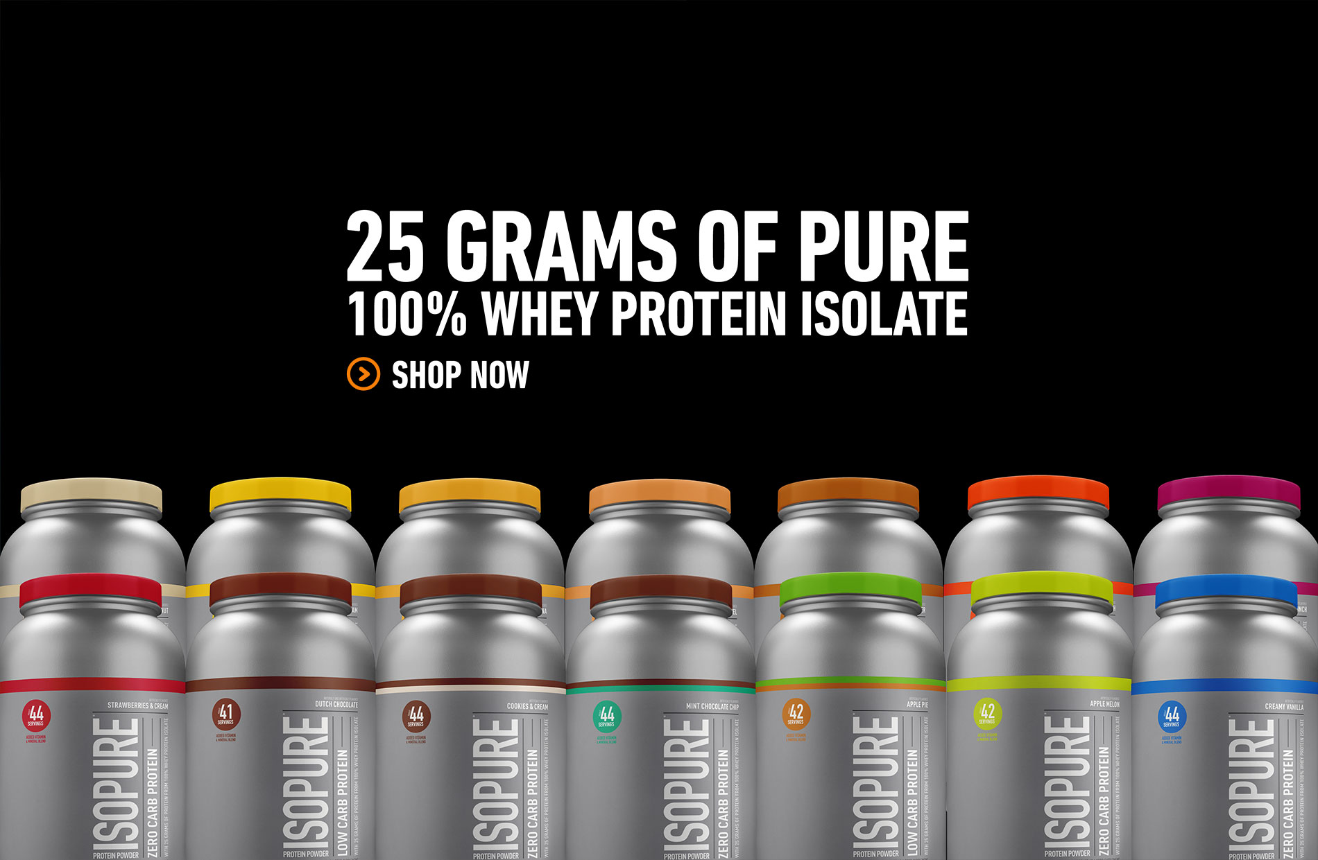 25G OF PURE 100% WHEY PROTEIN ISOLATE