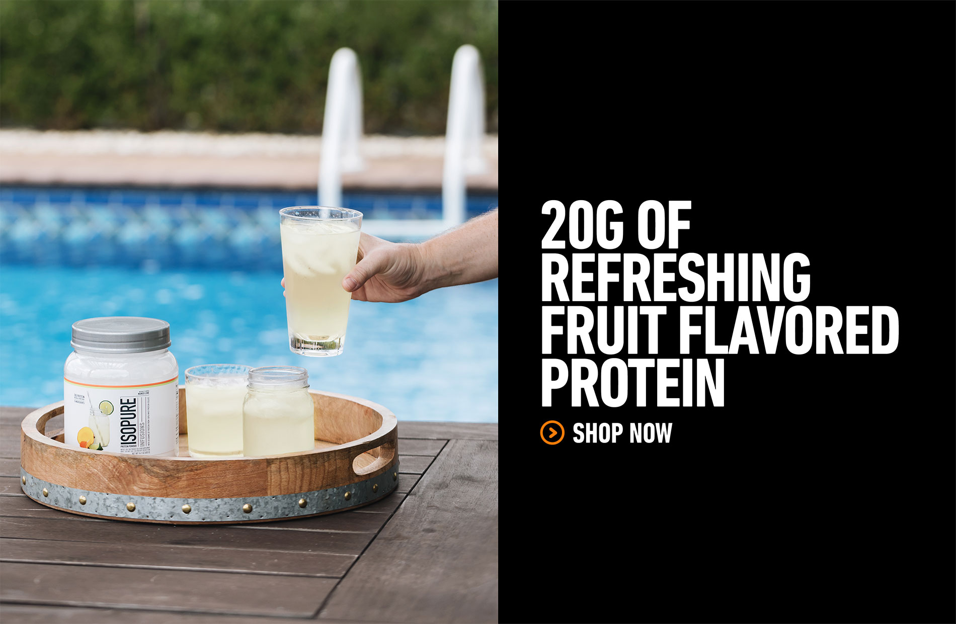 20G OF REFRESHING FRUIT FLAVORED PROTEIN