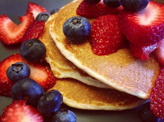 Toasted Coconut protein pancakes