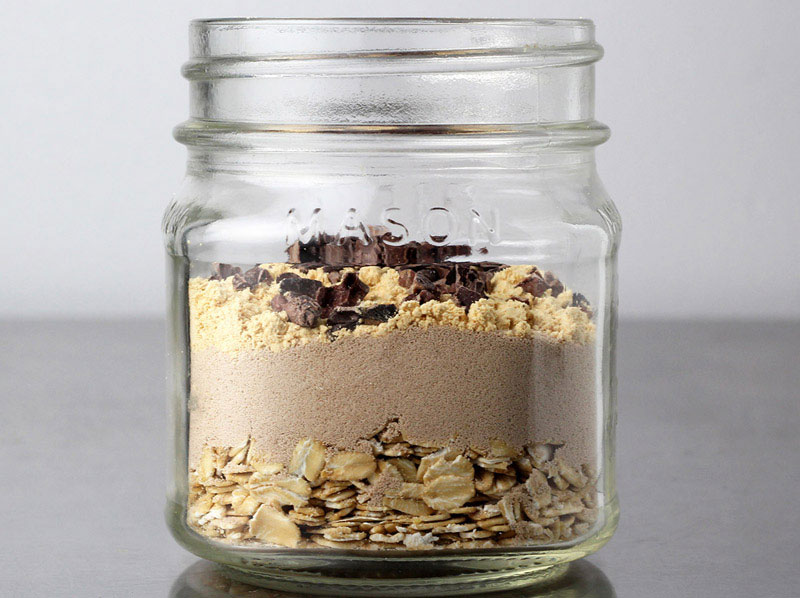 Peanut Butter Chip Overnight Protein Oats