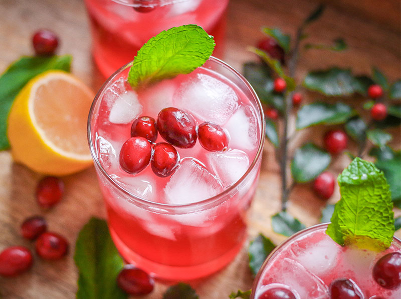 Isopure Infusions Cranberry Mocktail
