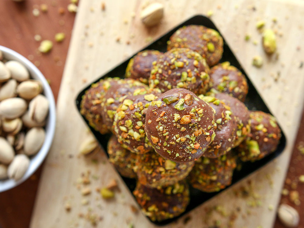 Chocolate Pistachio Fat Bombs