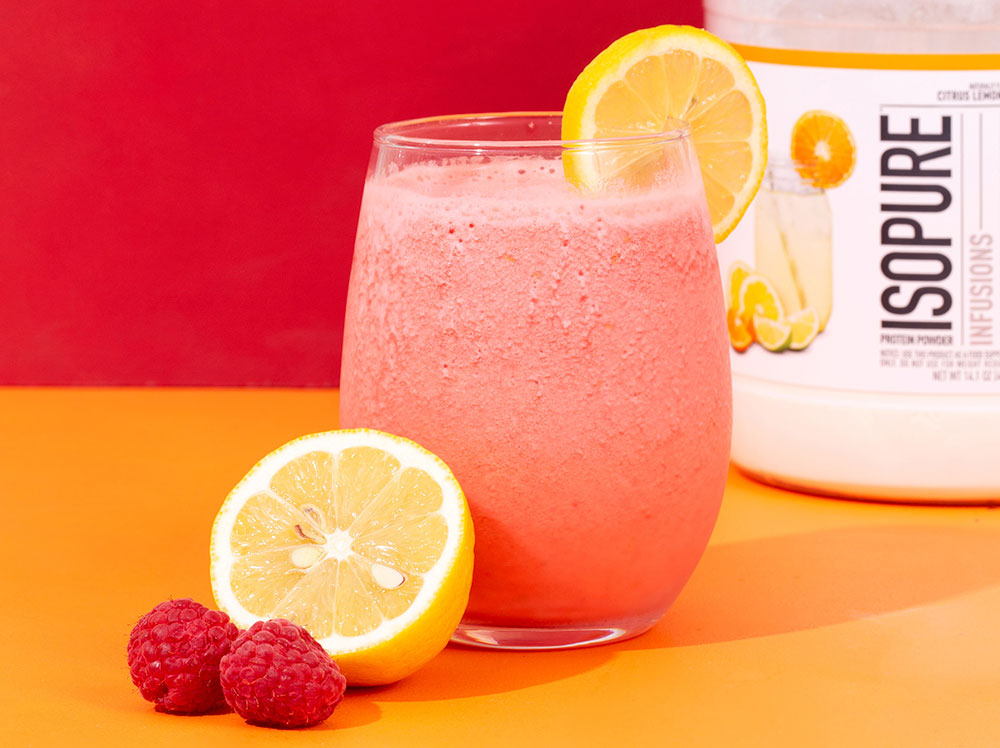 Citrus Raspberry Protein Smoothie