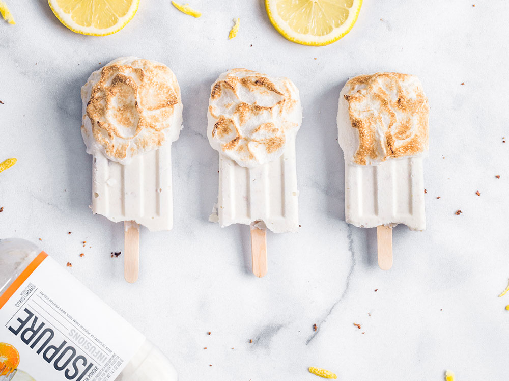 Lemon Meringue Protein Popsicles