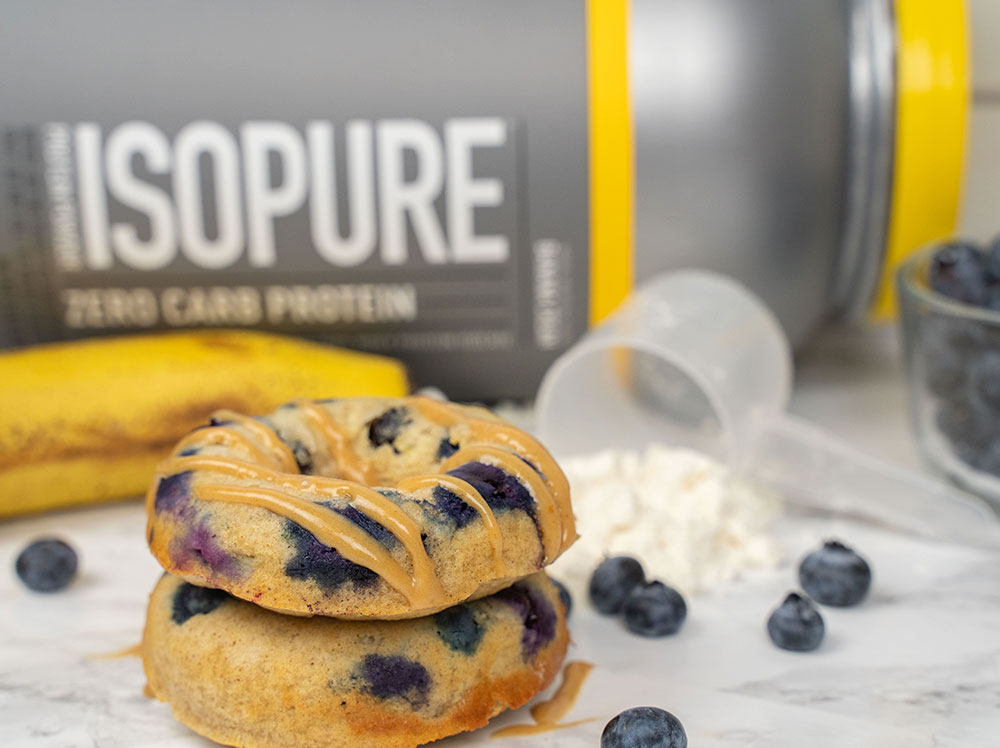 Blueberry Banana Protein Donuts