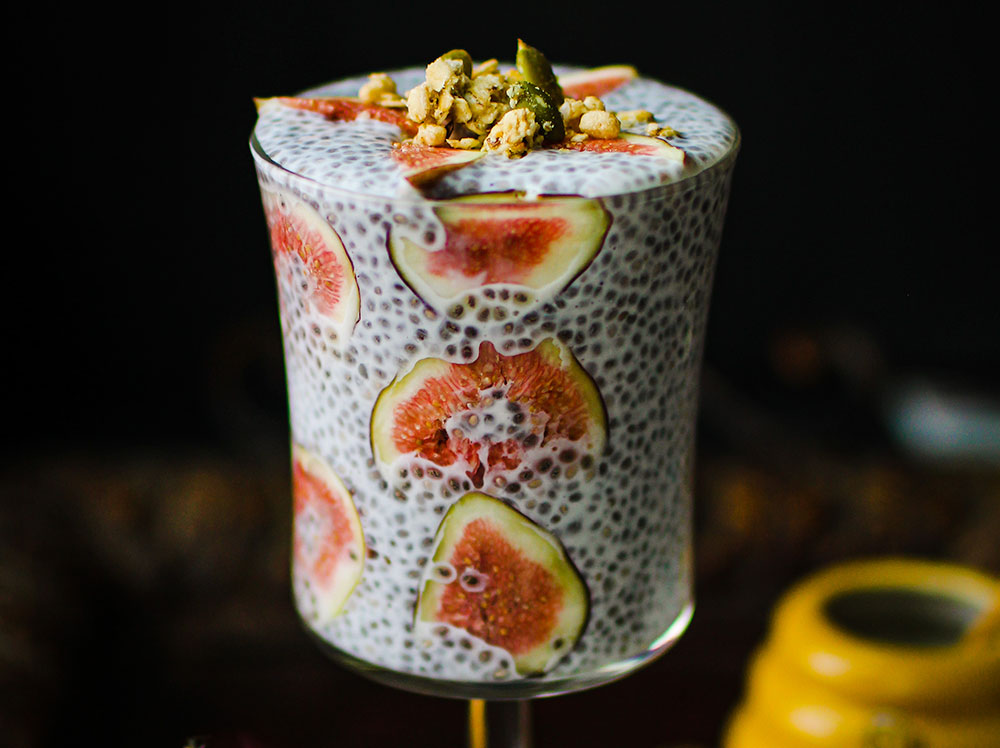 3-Ingredient Chia Protein Pudding